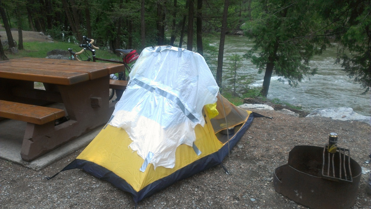 Ahh, camping Jeff style!