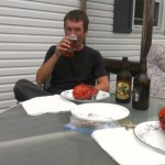 First lobster with the Anderson's and Aitkens in Belldune!