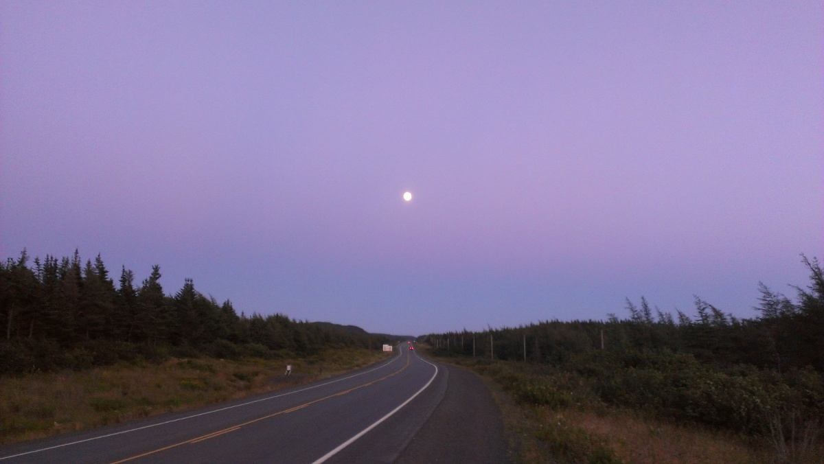Out late for some hard riding near Arnolds Cove.