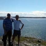 Bill and I BrimeStone Head, Fogo Island nfld.
